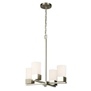 Ciara Springs Brushed Nickel Four-Light Chandelier