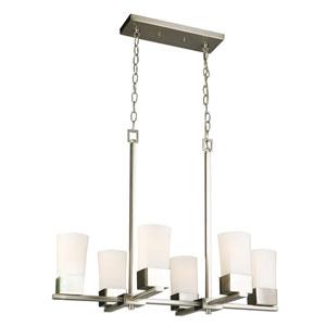 Ciara Springs Brushed Nickel Six-Light Pendant