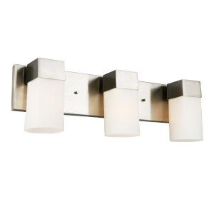 Ciara Springs Brushed Nickel Three-Light Vanity