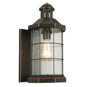 San Mateo Creek Oil Rubbed Bronze Eight-Inch One-Light Outdoor Wall Sconce