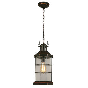San Mateo Creek Oil Rubbed Bronze One-Light Outdoor Pendant