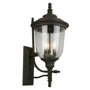 Pinedale Oil Rubbed Bronze 10-Inch Three-Light Outdoor Wall Sconce