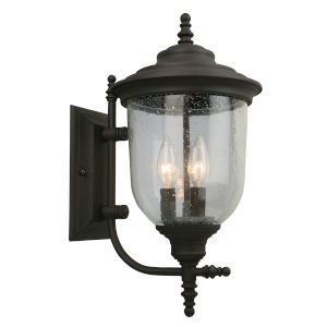 Pinedale Oil Rubbed Bronze Nine-Inch Three-Light Outdoor Wall Sconce