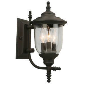 Pinedale Oil Rubbed Bronze Seven-Inch Three-Light Outdoor Wall Sconce