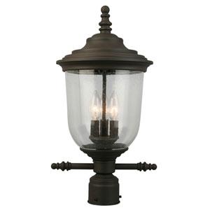 Pinedale Matte Bronze Three-Light Outdoor Post Mount Light
