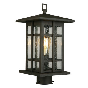 Arlington Creek Matte Bronze One-Light Outdoor Post Mount Light