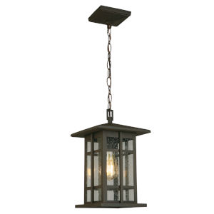 Arlington Creek Matte Bronze One-Light Outdoor Pendant