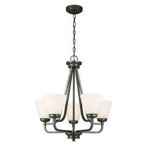Mayview Graphite Five-Light Chandelier