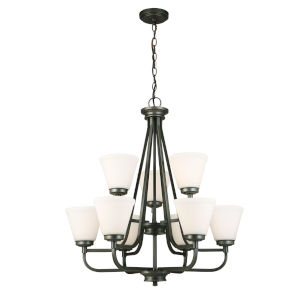 Mayview Graphite Nine-Light Chandelier