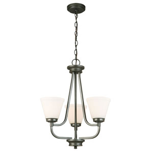 Mayview Graphite Three-Light Chandelier