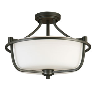 Mayview Graphite Three-Light Semi Flush Mount
