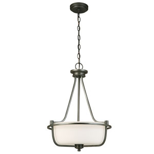 Mayview Graphite Three-Light Pendant