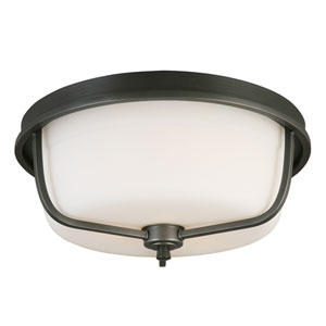 Mayview Graphite Three-Light Flush Mount