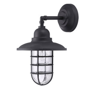 Shipman Black One-Light Outdoor Wall Sconce