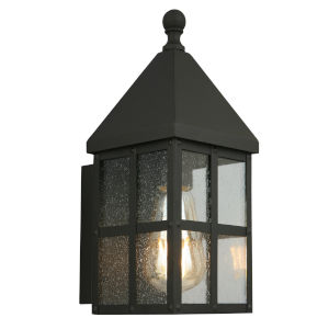 Creston Creek Matte Black One-Light Outdoor Wall Mount