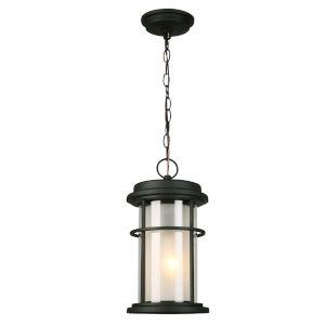 Helendale Matte Black One-Light Outdoor Pendant