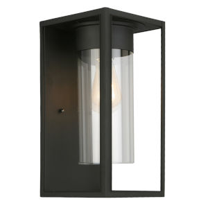 Walker Hill Black Seven-Inch One-Light Outdoor Wall Sconce