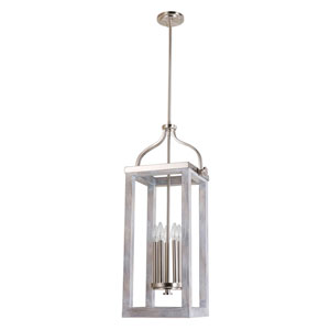 Montrose Acia Wood and Brushed Nickel Five-Light Pendant