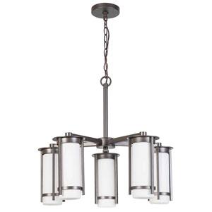 Truxton Graphite Five-Light Chandelier
