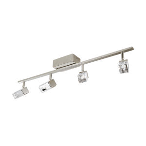 Cantil Matte Nickel Four-Light LED Track Light with Clear Acrylic Shade
