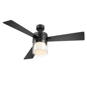 Casou Matte Black 52-Inch Ceiling Fan