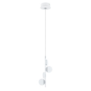 Olindra White and Chrome Seven-Inch Four-Light LED Mini Pendant