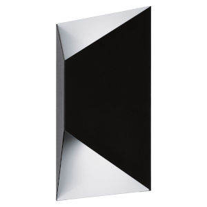 Predazzo Black and White Four-Inch LED Outdoor Wall Sconce