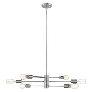 Willsboro Polished Nickel 26-Inch Six-Light Chandelier