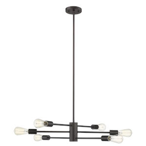 Willsboro Bronze 26-Inch Six-Light Chandelier