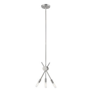 Willsboro Polished Nickel Five-Inch Three-Light Mini Pendant