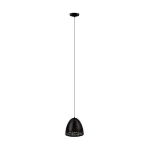 Safi Black One-Light Pendant with Black Exterior and Gold Interior Metal Shade