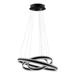 Tonarella Black and White 31-Inch Three-Light LED Pendant