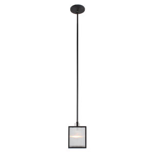 Henessy Black and Brushed Nickel Five-Inch One-Light Mini Pendant