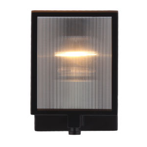 Henessy Black and Brushed Nickel Five-Inch One-Light Wall Sconce
