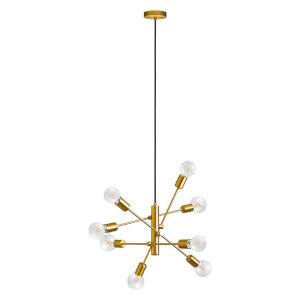 Gradoli Brushed Gold Eight-Light Pendant