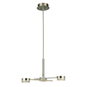 Transton Brushed Nickel Three-Light LED Chandelier