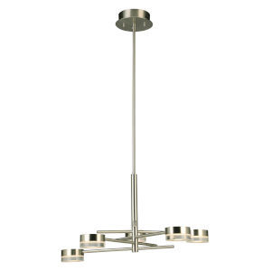 Transton Brushed Nickel Five-Light LED Chandelier