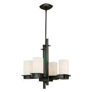 Vlacker Bronze Four-Light Chandelier