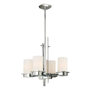 Vlacker Silver Four-Light Chandelier