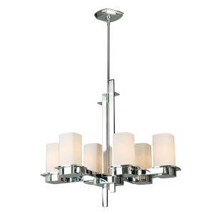 Vlacker Silver Six-Light Chandelier