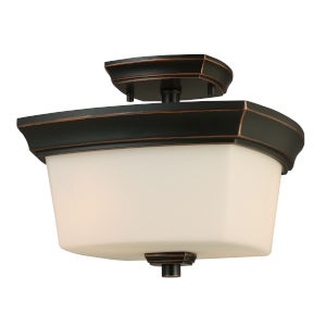 Vlacker Bronze Two-Light Semi-Flush Mount