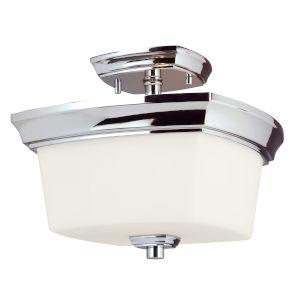 Vlacker Silver Two-Light Semi-Flush Mount
