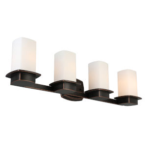 Vlacker Oil Rubbed Bronze Four-Light Bath Vanity