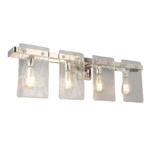 Wolter Polished Nickel Four-Light Bath Vanity