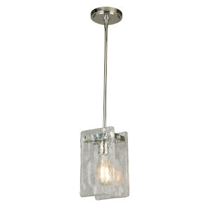 Wolter Polished Nickel One-Light Mini Pendant