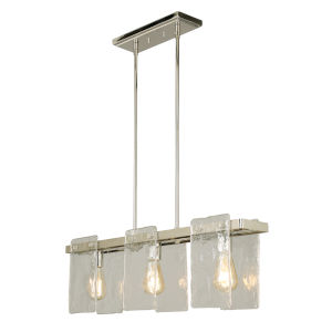 Wolter Polished Nickel Three-Light Pendant