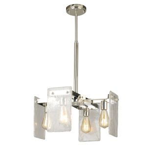 Wolter Polished Nickel Four-Light Chandelier