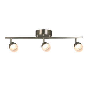 Stella Ferry Brushed Nickel Three-Light LED Semi-Flush Mount with Frosted Acrylic Shade