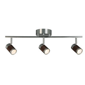 Brews Chrome Three-Light LED Semi-Flush Mount with Copper Metal Shade