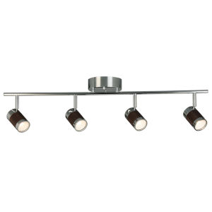 Brews Chrome Four-Light LED Semi-Flush Mount with Copper Metal Shade